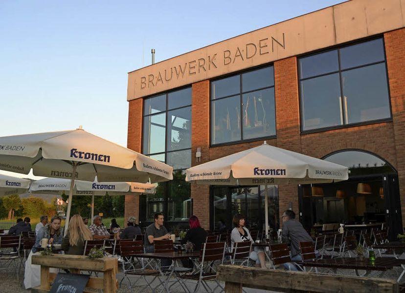 Brauwerk Baden Außenansicht mit Terrasse